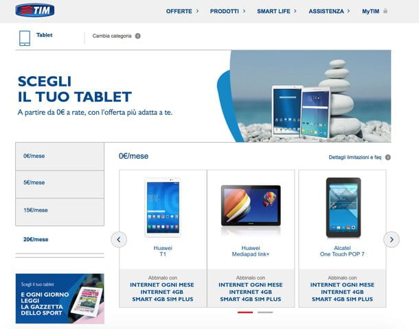 Offerte tablet