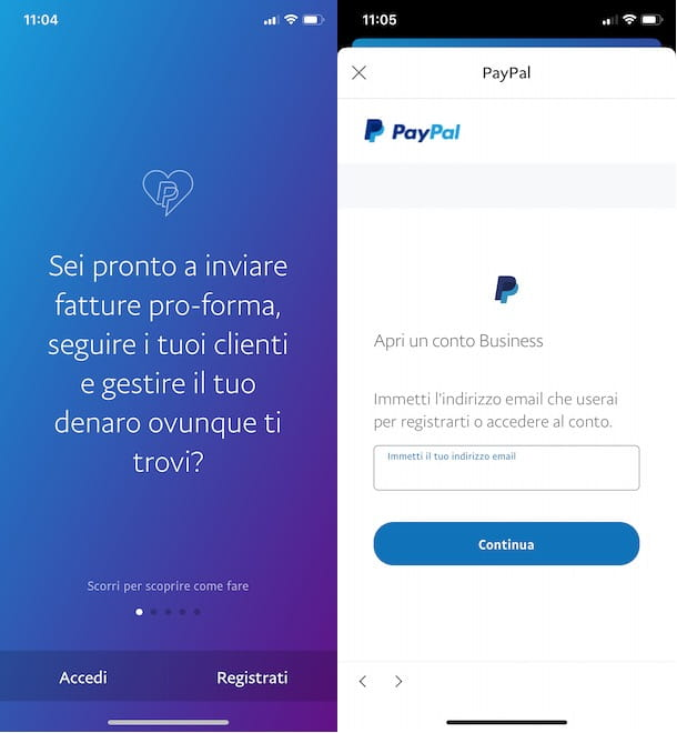 Come creare un account PayPal Business da smartphone e tablet