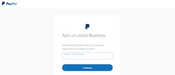 Come creare un account PayPal Business
