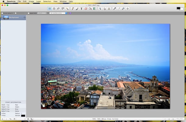 Screenshot di Seashore su Mac
