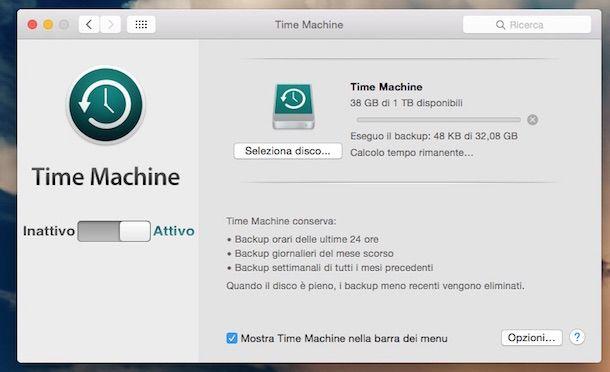 Immagine che mostra il funzionamento di Time Machine