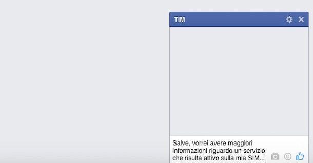 Immagine che mostra come contattare TIM su Facebook