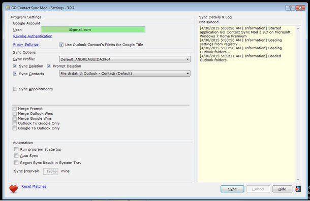 Come configurare Outlook con Gmail