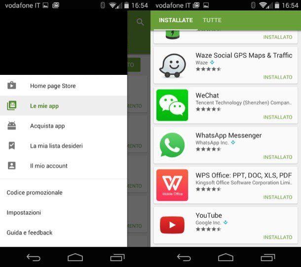 Immagine che mostra come aggiornare WhatsApp su Android