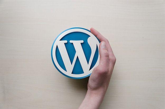 Foto che mostra il logo di WordPress