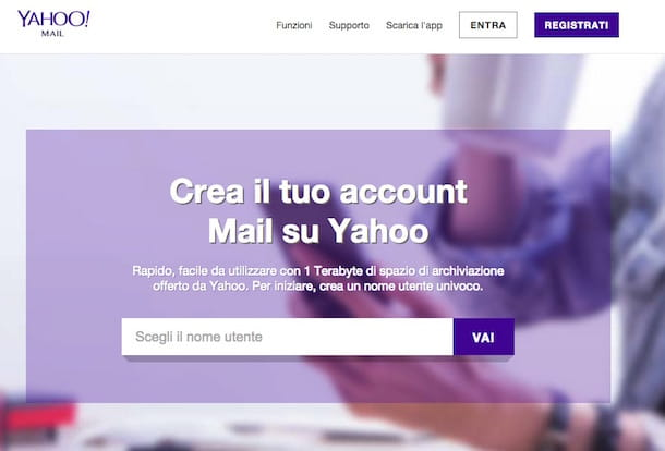 Screenshot Yahoo! Mail