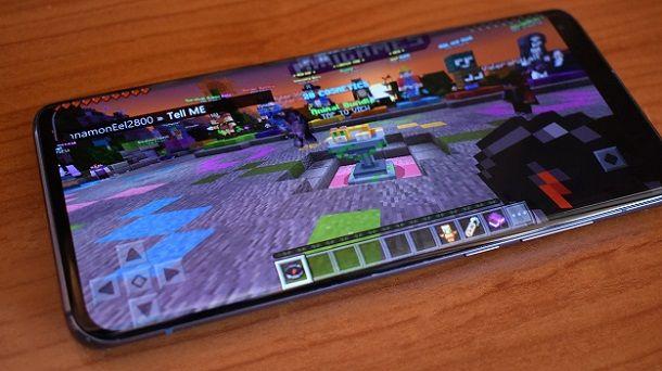 Minecraft server mobile
