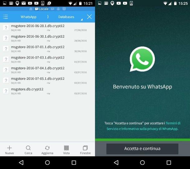 Come ripristinare conversazioni WhatsApp