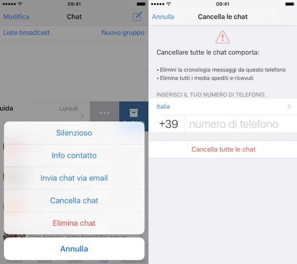 Come archiviare conversazioni WhatsApp