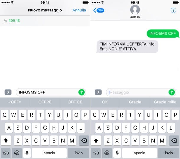 Come disattivare Info SMS TIM