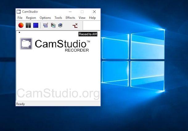 Screenshot di CamStudio