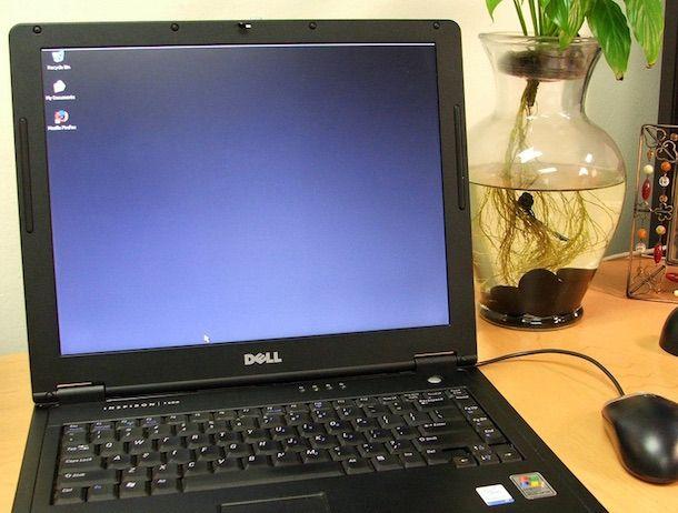 Foto di un computer laptop