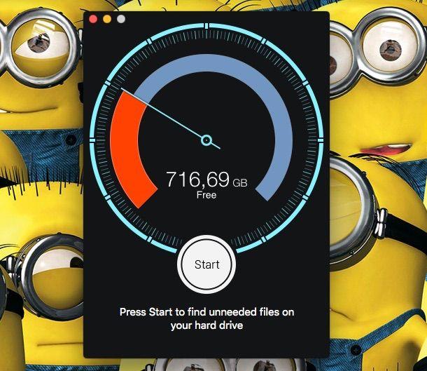 Screenshot app Disk Diag su Mac