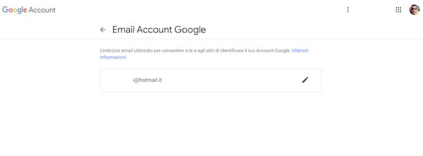 Come cambiare email Google