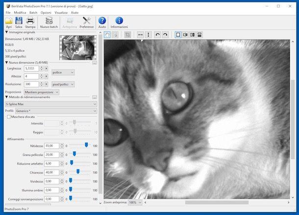 Come aumentare risoluzione foto