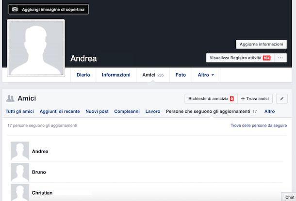 Come vedere chi ti segue su Facebook