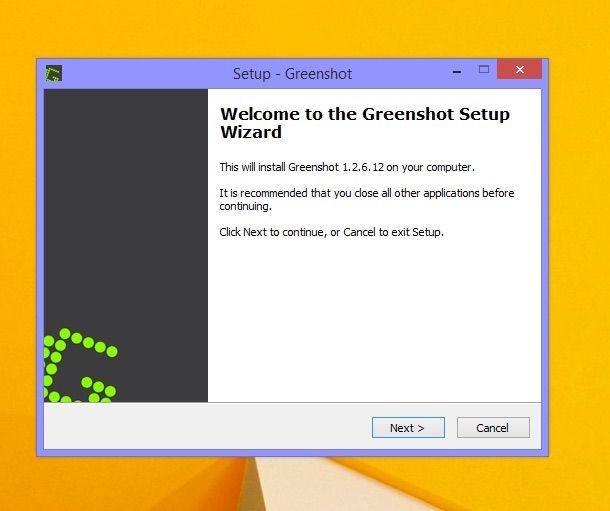 Screenshot di Greenshot su Windows 8