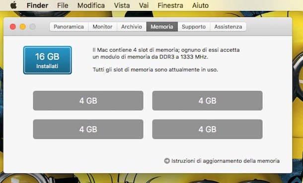 Screenshot RAM Mac