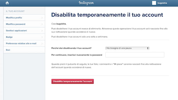 Come eliminare un account multiplo su Instagram