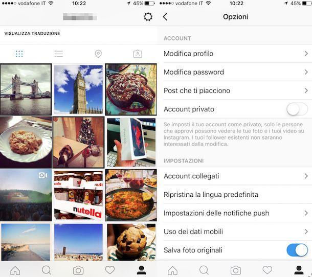 Come eliminare profilo Instagram