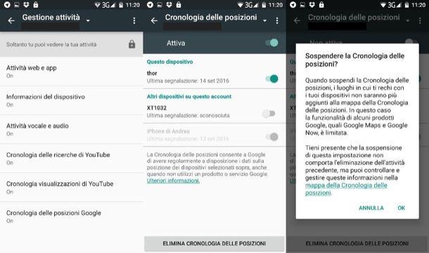 Come cancellare cronologia Google Android