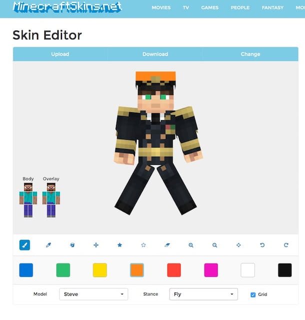 Screenshot di MinecraftSkins.net
