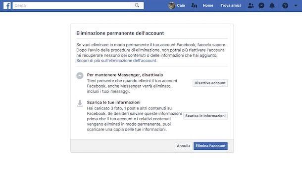 Come cancellarsi da Facebook per sempre