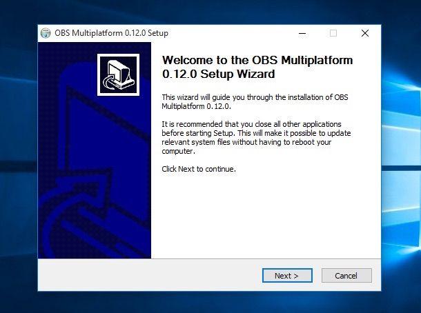 Screenshot di Open Broadcaster Software