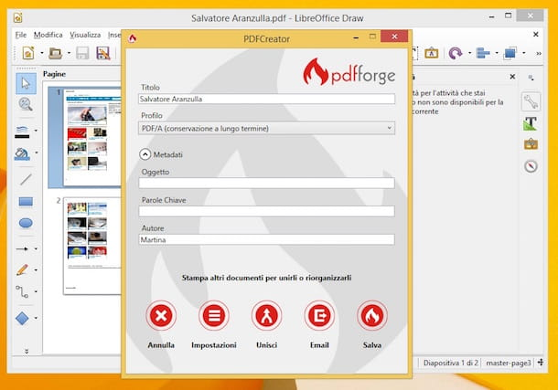 Screenshot di PDFCreator