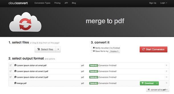 Come unire più PDF