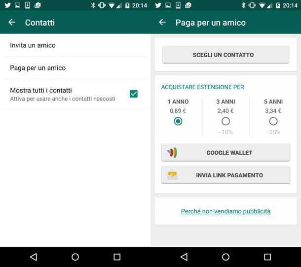 Come ricaricare WhatsApp
