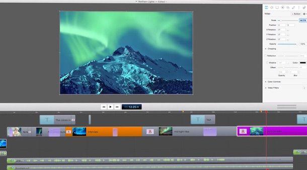 Screenshot del software ScreenFlow per Mac