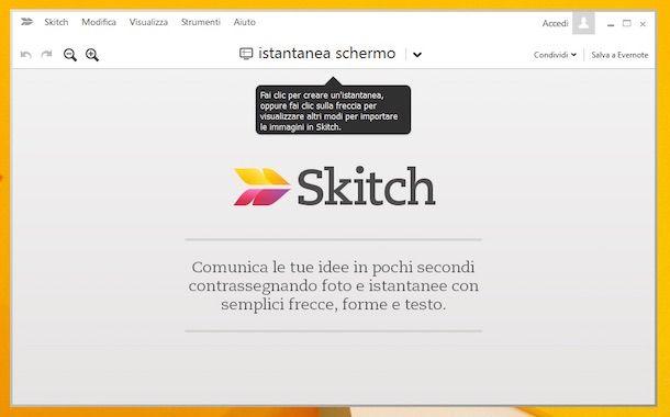 Screenshot di Skitch su Windows 8