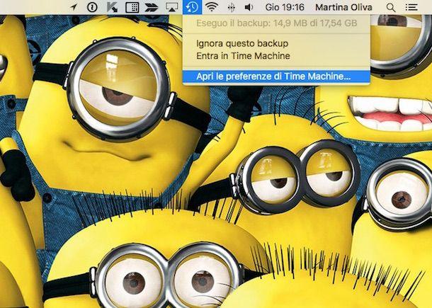 Screenshot di Time Machine
