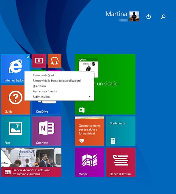 Screenshot di Windows 8.1