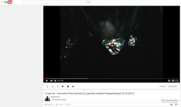 Screenshot di YouTube