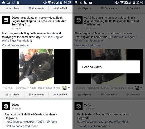 Come scaricare video da Facebook Android