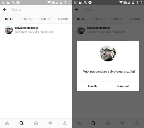 Come cancellare cronologia Instagram