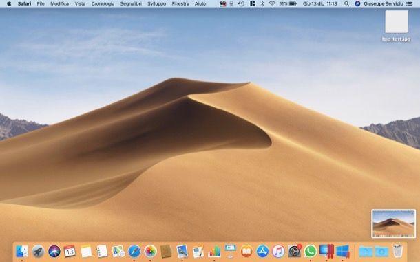 Fotografare il desktop su Windows