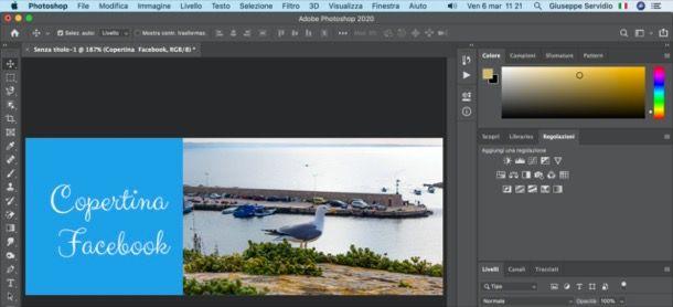 Copertina Facebook con Photoshop