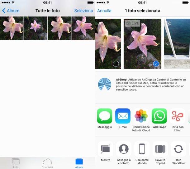 Come nascondere foto iPhone