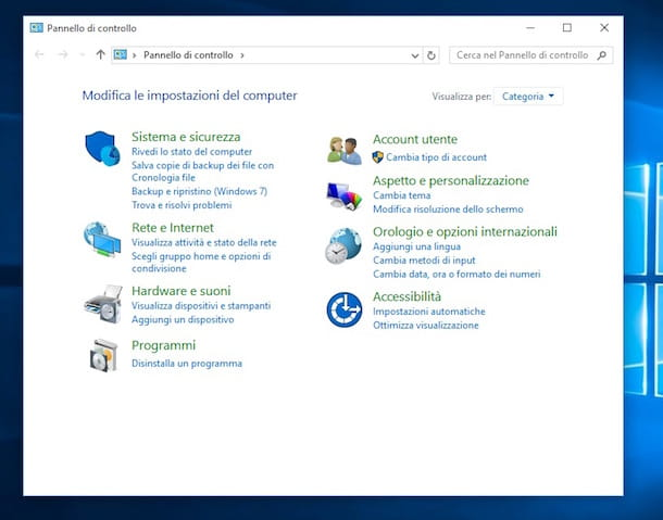 Screenshot di Windows 10 che mostra come disinstallare Chrome