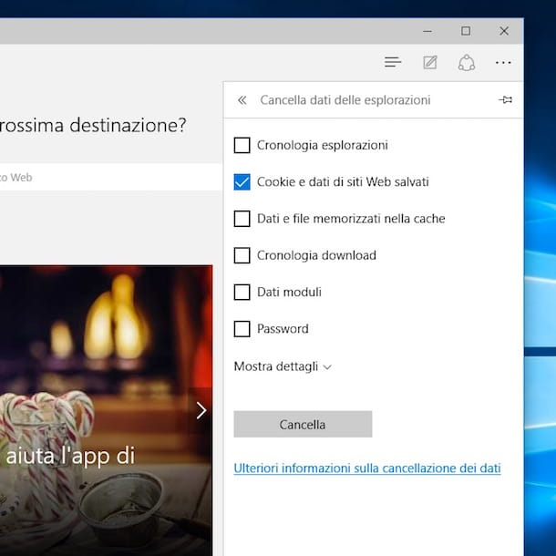 Screenshot di Microsoft Edge
