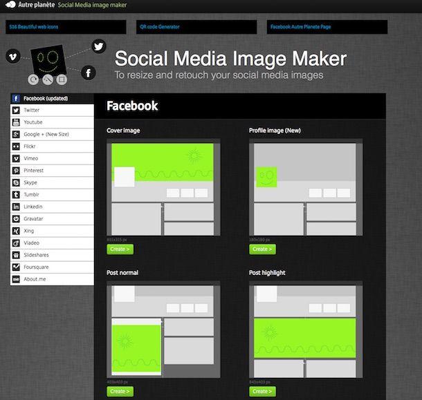 Screenshot di Social Media Image Maker