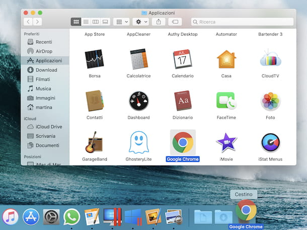 Disinstallare Chrome da Mac