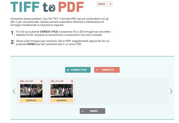 Come convertire TIFF in PDF