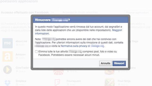 Screenshot di Facebook