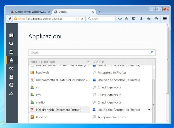 Screenshot di Firefox