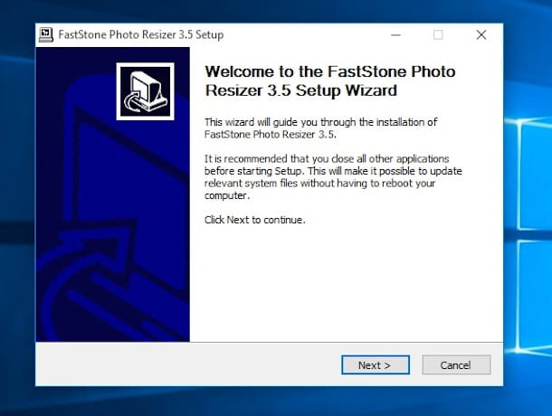 Screenshot di FastStone Photo Resizer