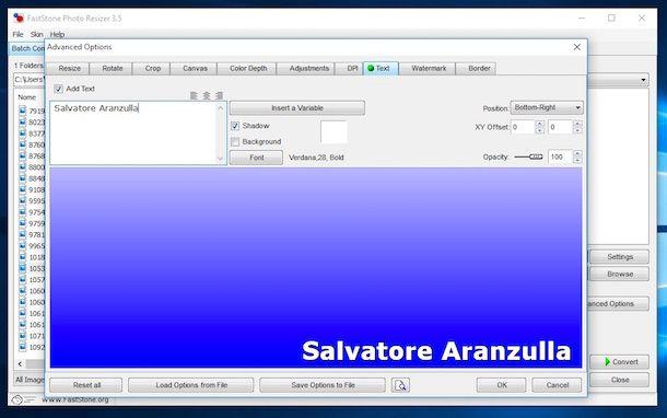 Screenshot di FastStone Photo Resizer